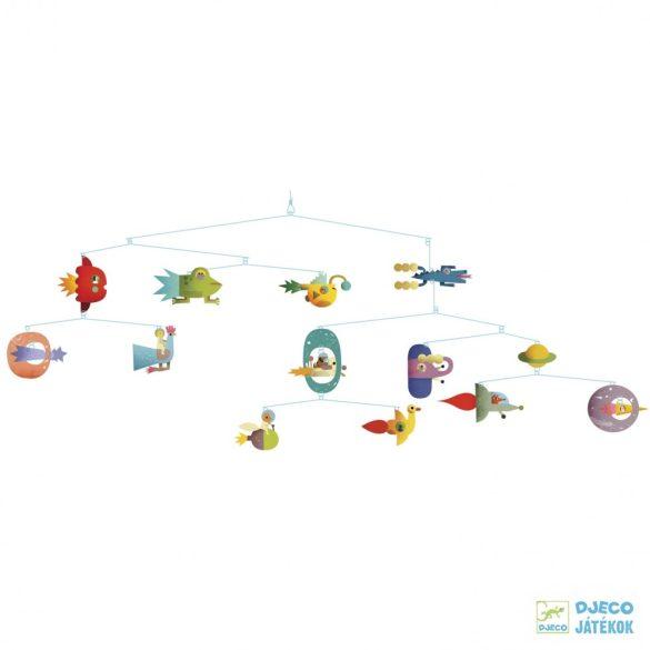 Függődísz, Űrhajós mobil (djeco, 4325, Space vehicles, gyerekszoba dekoráció)