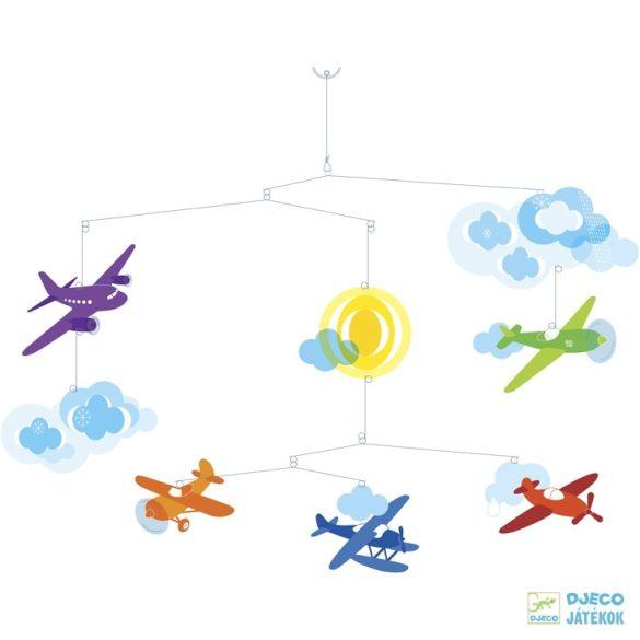 Függődísz, Repülők (Djeco, 4332, szobadkoráció, 0-12 év)