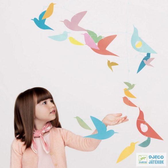 Multicolored birds – Sokszínű madarak Djeco függődísz - 4375