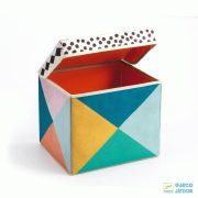 Geometry toy box - Formák Djeco tárolódoboz, és ülőke - 4481