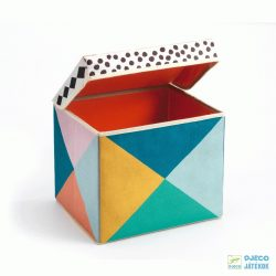 Tárolódoboz, téglalap alakú (Djeco, 4481, gyerekszoba kiegészítő, 3-6 év)