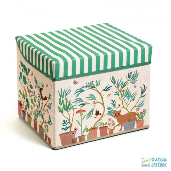 Garden toy box – Kert Djeco téglalap alakú tárolódoboz és ülőke - 4483