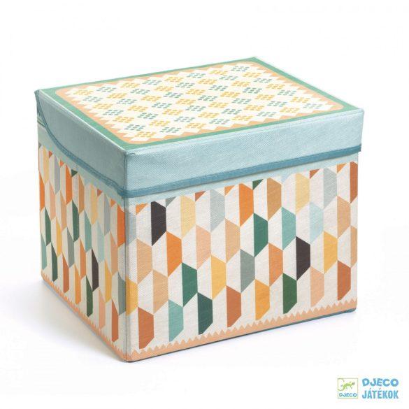Orient toy box – Kelet Djeco téglalap alakú tárolódoboz és ülőke - 4484