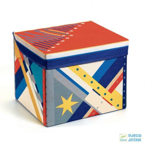 Rocket toy box – Rakéta Djeco téglalap alakú tárolódoboz és ülőke - 4485