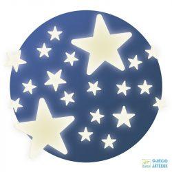 Stars csillagos fluoreszkáló Djeco falmatrica