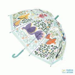 Virágos és madaras Djeco gyerek esernyő