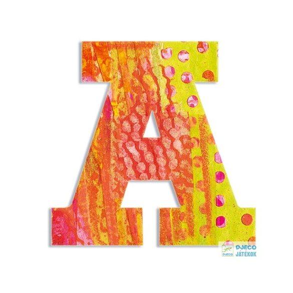 Modern dekor betű fából: A (Djeco, 4810, szobadekoráció, 0-99 év)