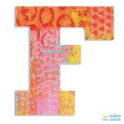 Modern dekor betű fából: F (Djeco, 4815, szobadekoráció, 0-99 év)