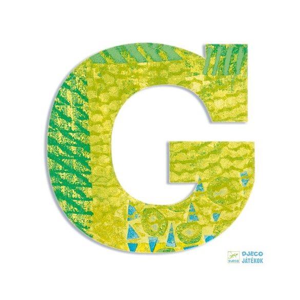 Modern dekor betű fából: G (Djeco, 4816, szobadekoráció, 0-99 év)