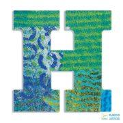Modern dekor betű fából: H  (Djeco, 4817, szobadekoráció, 0-99 év)