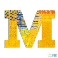 Modern dekor betű fából: M (Djeco, 4822, szobadekoráció, 0-99 év)