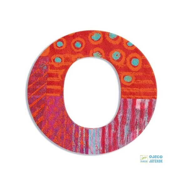 Modern dekor betű fából: O (Djeco, 4824, szobadekoráció, 0-99 év)