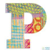 Modern dekor betű fából: P (Djeco, 4825, szobadekoráció, 0-99 év)
