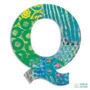 Modern dekor betű fából: Q (Djeco, 4826, szobadekoráció, 0-99 év)