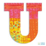 Modern dekor betű fából: U (Djeco, 4830, szobadekoráció, 0-99 év)