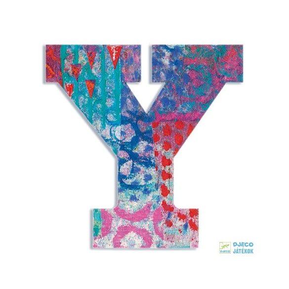 Modern dekor betű fából: Y (Djeco, 4834, szobadekoráció, 0-99 év)