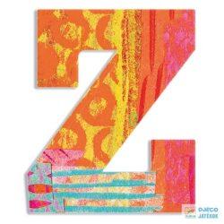Modern dekor betű fából: Z (Djeco, 4835, szobadekoráció, 0-99 év)