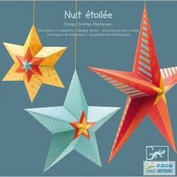 Függődísz 3D, Csillagok (Djeco, 4952, 3 db-os szobadekoráció)