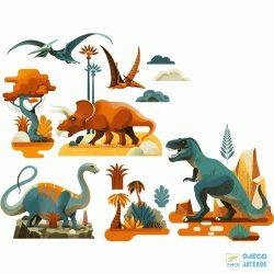 Dinoszauruszok 28 db-os újraragasztható Djeco ablakmatrica